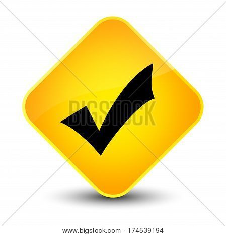 Validation Icon Elegant Yellow Diamond Button