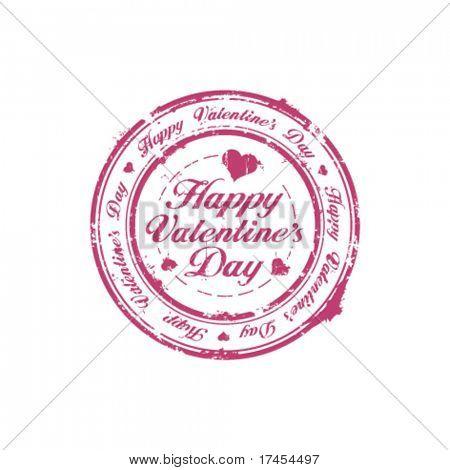Happy Valentine Day rubber stamp