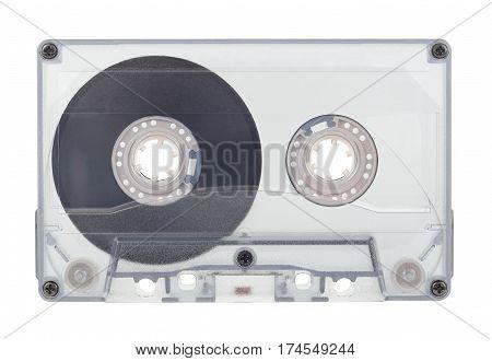 Classic audio music transparent compact cassette tape