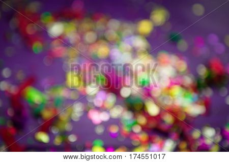 colored background. Defocused lights. concept of holiday