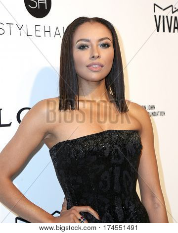 LOS ANGELES - FEB 26:  Kat Graham at the 25the Annual Elton John Academy Awards Viewing Party at the  City of West Hollywood Park on February 26, 2017 in West Hollywood, CA