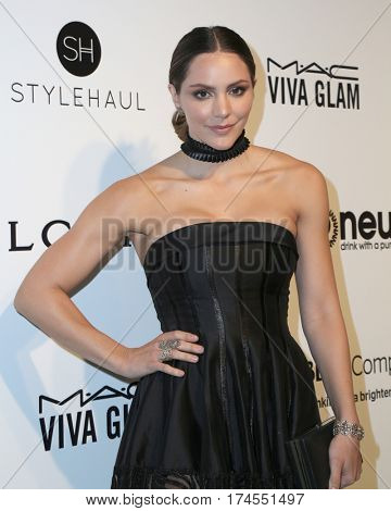 LOS ANGELES - FEB 26:  Katharine McPhee at the 25the Annual Elton John Academy Awards Viewing Party at the  City of West Hollywood Park on February 26, 2017 in West Hollywood, CA