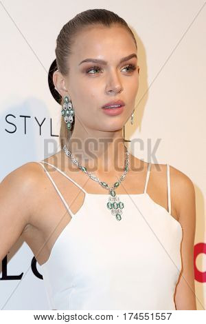 LOS ANGELES - FEB 26:  Josephine Skriver at the 25the Annual Elton John Academy Awards Viewing Party at the  City of West Hollywood Park on February 26, 2017 in West Hollywood, CA