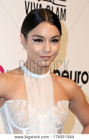 LOS ANGELES - FEB 26:  Vanessa Hudgens at the 25the Annual Elton John Academy Awards Viewing Party at the  City of West Hollywood Park on February 26, 2017 in West Hollywood, CA