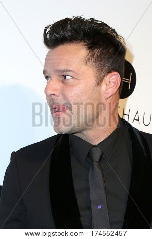 LOS ANGELES - FEB 26:  RIcky Martin at the 25the Annual Elton John Academy Awards Viewing Party at the  City of West Hollywood Park on February 26, 2017 in West Hollywood, CA