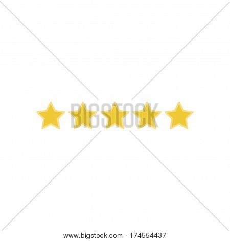 Icon 5 star rating. Flat vector illustration EPS 10