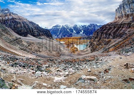 Panorama Of Larch Valley In The Canadian Rockies