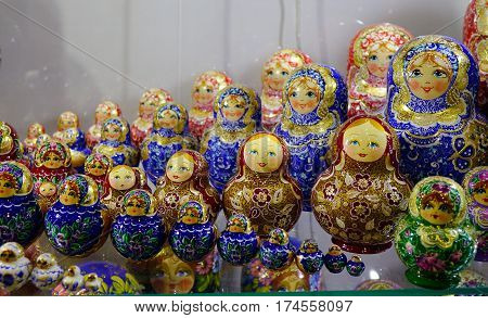 Souvenir Shop At The Market In Moscow, Russia