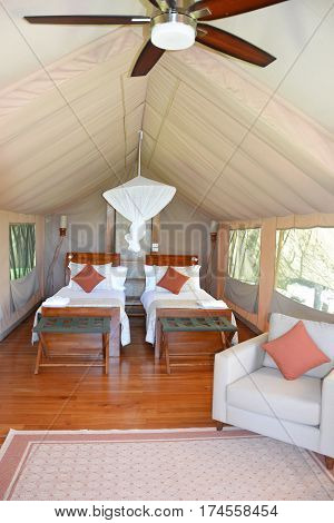 Galapagos Safari Camp Tent Interior