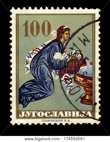 Yugoslavia - CIRCA 1963: A stamp printed in Yugoslavia shows