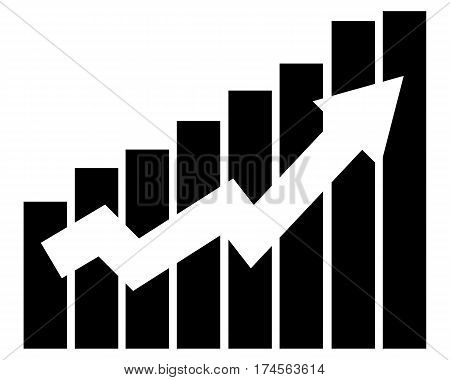 growing graph business icon up, graph icon arrow growth