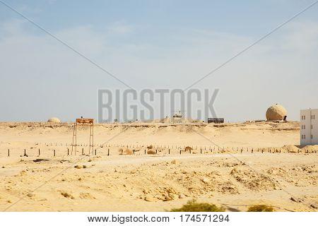 a military base in the desert egypt