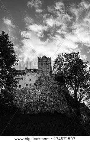 Bran Castle, Brasov, Romania - October 06, 2014: Romania, Transilvania, known as Dracula's Castle