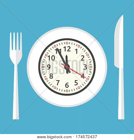 Plate With Clock