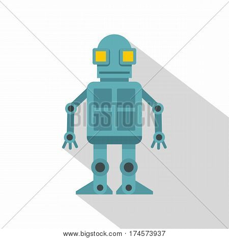 Android robot icon. Flat illustration of android robot vector icon for web isolated on white background