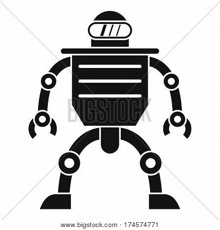 Humanoid robot icon. Simple illustration of humanoid robot vector icon for web
