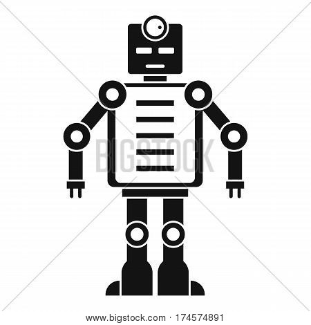 Artificial intelligence robot icon. Simple illustration of artificial intelligence robot vector icon for web
