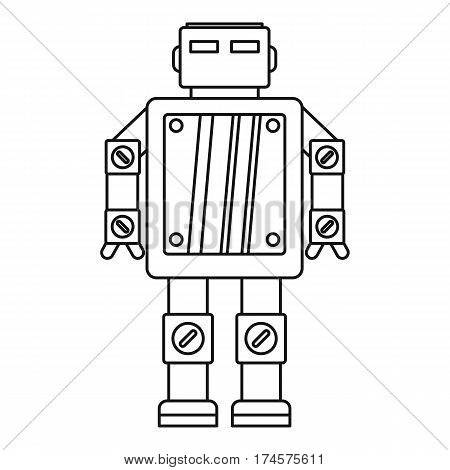 Artificial intelligence robot icon. Outline illustration of artificial intelligence robot vector icon for web
