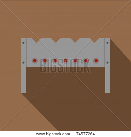 Steel brazier icon. Flat illustration of steel brazier vector icon for web isolated on coffee background