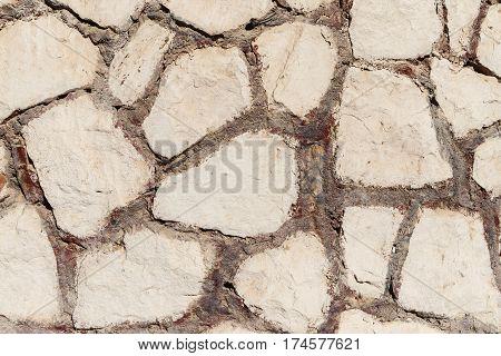 Background Old Broken Gray White Brick Wall