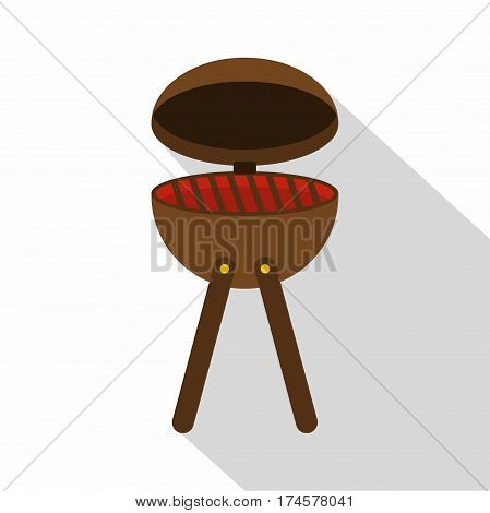 BBQ party grill icon. Flat illustration of BBQ party grill vector icon for web isolated on white background