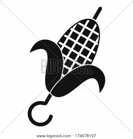 Grilled corn cob icon. Simple illustration of grilled corn cob vector icon for web