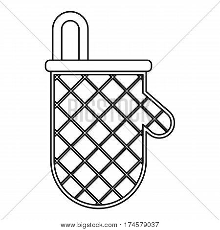 Oven mitten icon. Outline illustration of oven mitten vector icon for web