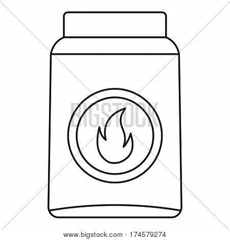Box of matches icon. Outline illustration of box of matches vector icon for web