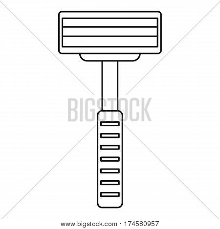 Razor equipment for shaver icon. Outline illustration of razor equipment for shaver vector icon for web