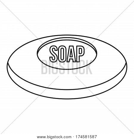 Piece of soap icon. Outline illustration of piece of soap vector icon for web