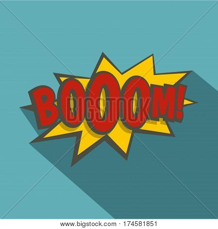 Boom, explosion icon. Flat illustration of boom, explosion vector icon for web isolated on baby blue background