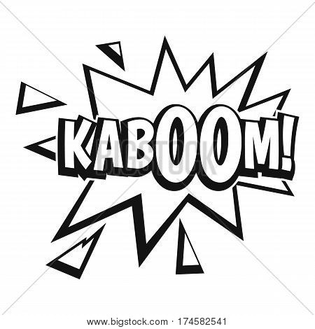 Kaboom, explosion icon. Simple illustration of Kaboom, explosion vector icon for web