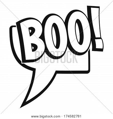 BOO, comic text speech bubble icon. Simple illustration of BOO, comic text speech bubble vector icon for web