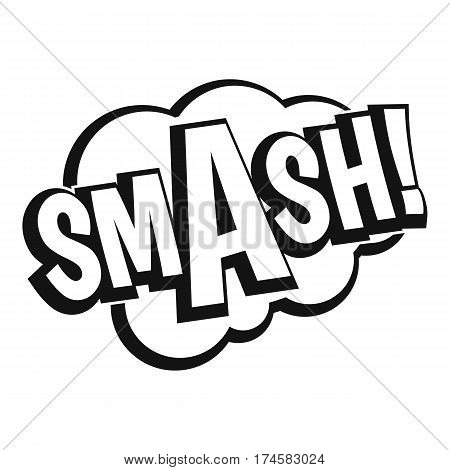 SMASH, comic book bubble text icon. Simple illustration of SMASH, comic book bubble text vector icon for web