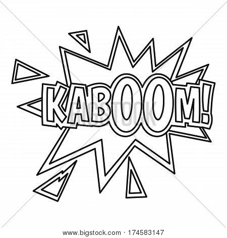 Kaboom, comic book explosion icon. Outline illustration of Kaboom, comic book explosion vector icon for web