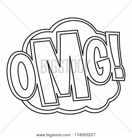 OMG, comic text sound effect icon. Outline illustration of OMG, comic text sound effect vector icon for web