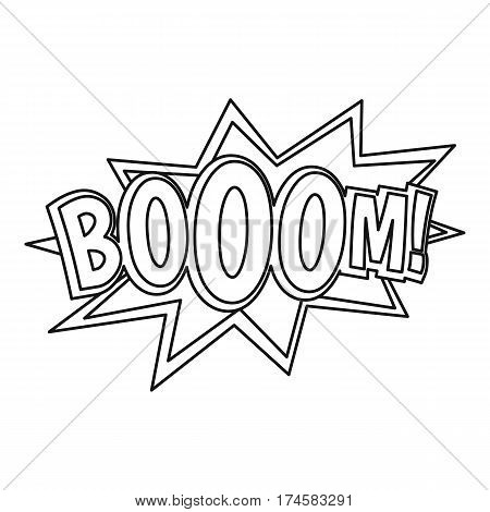 Boom, comic book explosion icon. Outline illustration of Boom, comic book explosion vector icon for web
