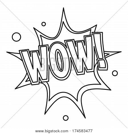 Wow, text sound effect icon. Outline illustration of Wow, text sound effect vector icon for web