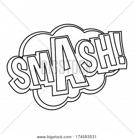 Smash, comic text sound effect icon. Outline illustration of Smash, comic text sound effect vector icon for web