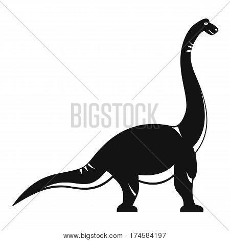 Brachiosaurus dinosaur icon. Simple illustration of brachiosaurus dinosaur vector icon for web
