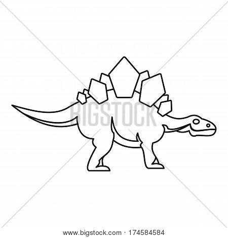 Stegosaurus icon. Outline illustration of stegosaurus vector icon for web