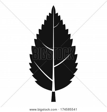 Hornbeam leaf icon. Simple illustration of hornbeam leaf vector icon for web