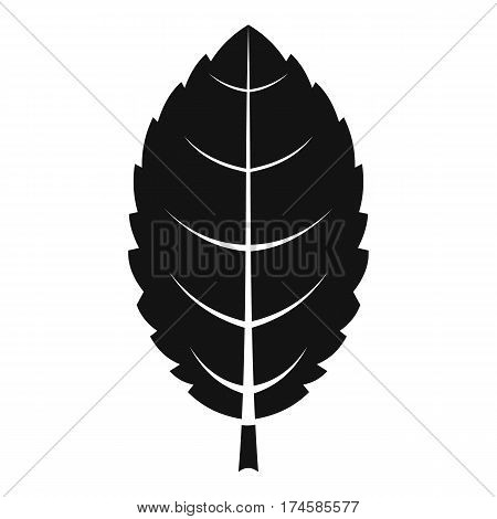 Plum leaf icon. Simple illustration of plum leaf vector icon for web