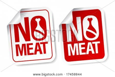 No meat stickers set.