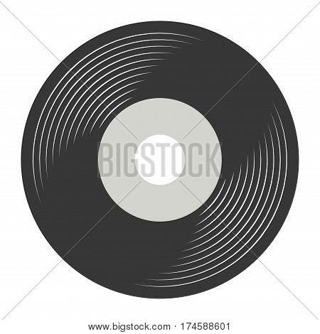 VINYL RECORD VECTOR, LP FLAT ILLUSTRATION VECTOR