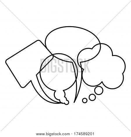 silhouette collection speech bubbles and dialog balloons vector illustration