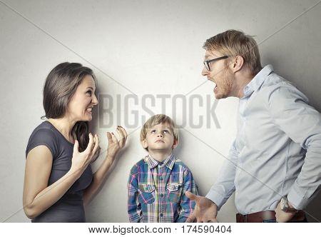 Uncaring parents arguing