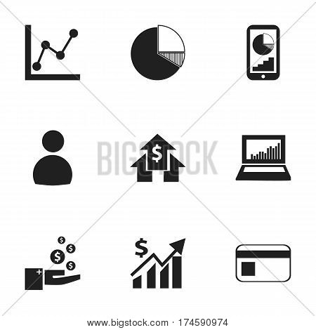 Set Of 9 Editable Analytics Icons. Includes Symbols Such As Profit, Graph Information, Revenue And More. Can Be Used For Web, Mobile, UI And Infographic Design.