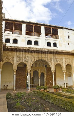 The Court Of La Acequia In Generalife. The Alhambra, Granada, Andalusia, Spain.