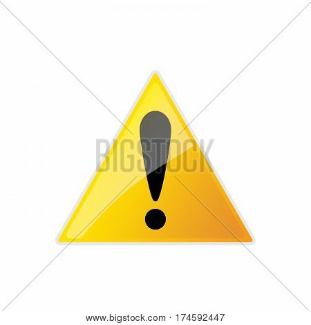 Warning danger sign. Vector illustration. Warning triangle sign with exclamation mark.
